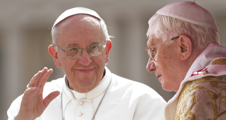 2 popes - pope francis and pope benedict
